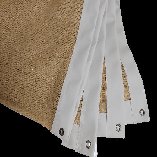 Δίχτυ σκίασης με περίγραμμα και κρίκους με σκίαση 75%  Αντιανεμικό Ε125