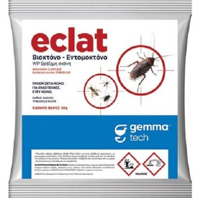 Gemma Eclat Deltamethrin 2.538% WP 50gr Βιοκτόνο - Εντομοκτόνο για Κατσαρίδες, Κουνούπια, Σφήκες, Μύγες